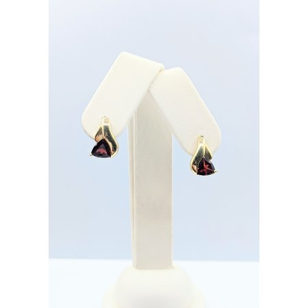 Earrings 3ctw Garnet 14ky 121060331