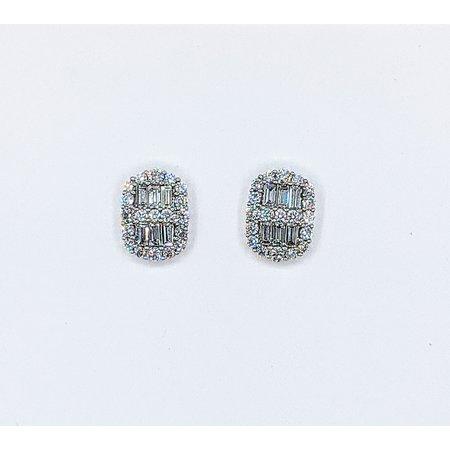 Earrings Stud 1.62ctw Diamond 14kw 12.5x9.5mm 121060367