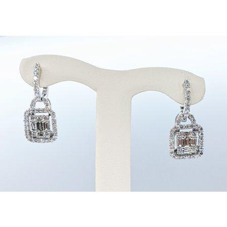 Earrings 1.25ctw Diamond 14kw 22x10mm 121050275