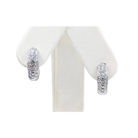 Earrings Huggies 1.30ctw Diamond 14kw 17x5.5mm 121050215