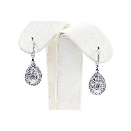 Earrings 1.60ctw Diamond 14kw 28x10mm 121050196