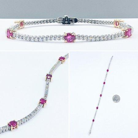"Bracelet 1.90ctw Diamond 2.00ctw Rubies 14kw 7"" 121060370"