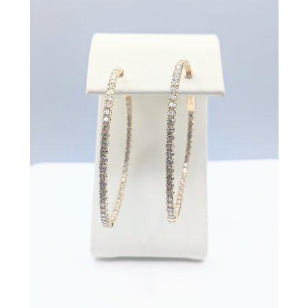 "Earrings 3.00ctw Diamond 14ky 1.75x1.75"" 121060372"