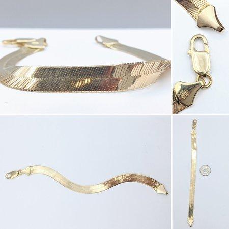 "Bracelet Herringbone 8mm 14ky 7"" 221070011"