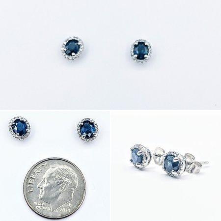 Earrings 14KW .10 DI .87 CT SAPP 121060053