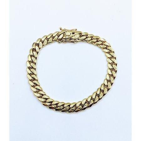 "Bracelet Cuban 8.5mm 14ky 9"" 121070000"