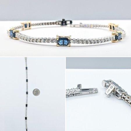 """Bracelet 1.92ctw Diamond 3.00ctw Sapphire 14kw 7"""" 121060405"""