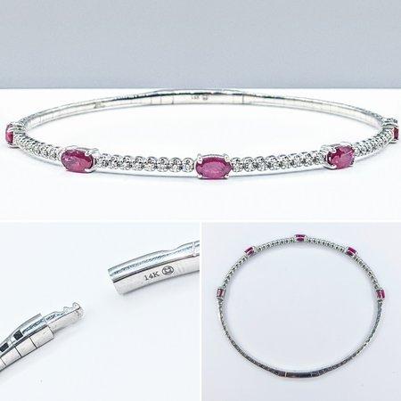 """Bracelet .31ctw Diamond 1.50ctw Ruby 14kw 7"""" 121060407"""