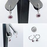Earrings .57ctw Diamond 1.00ctw Ruby 14kw 24x9mm 121060408