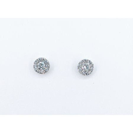 Earrings Screw Back .70ctw Diamond 14kw 6x6mm 121060409
