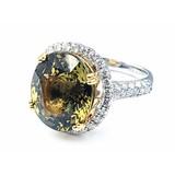 Ring 1.18ctw Round Diamonds 13.62ct Natural Alexandrite Platinum Sz7 221070024