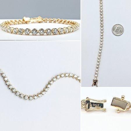 """Bracelet 6.31ctw Round Diamonds 18ky 7"""" 221070012"""
