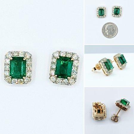 Earrings 1.29ctw Round Diamonds 14ky 221070015