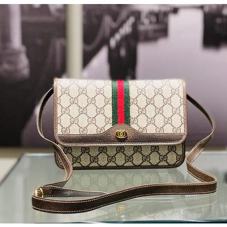 Handbag Gucci Shoulder Bag Light Brown PVC 121070005