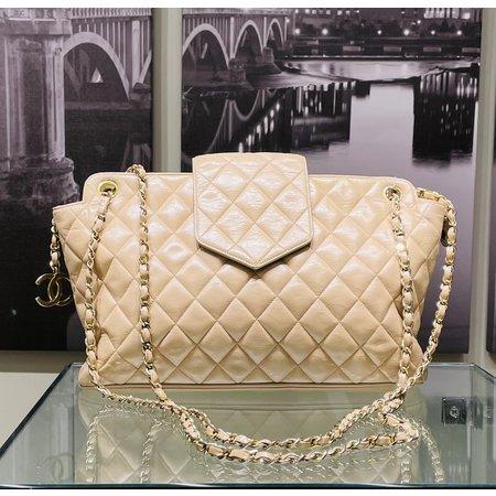 Handbag Chanel Shoulder Bag Beiges Leather 121070006