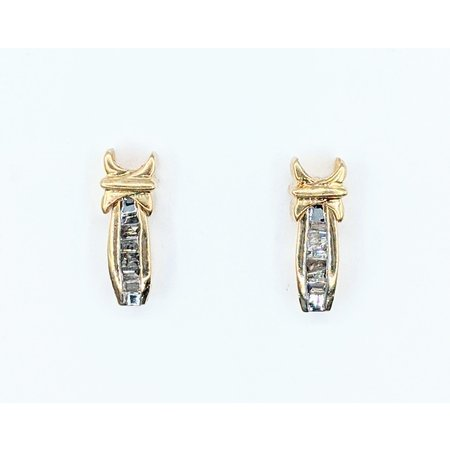 Earrings .40ctw Baguette Diamonds 10ky 221070065