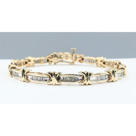 """Bracelet Tennis 2.0ctw Baguette Diamonds 10ky 6.5"""" 221070064"""