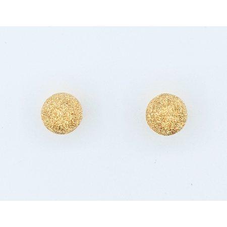 Earrings Textured Ball 21ky 7mm 121070034