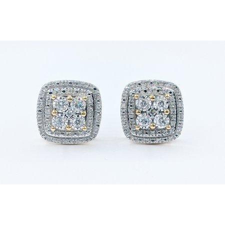Earrings .50ctw Round Diamonds 10ky 221070053