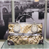 HandbagGucci Tote Bag GG Crystal Light Brown PVC 121070062