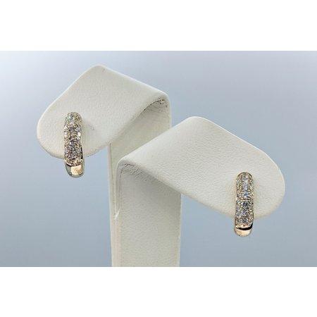 Earrings .75ctw Diamond 14ky 15x4mm 121060406