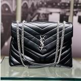 Handbag YSL LouLou Medium Black 221070068