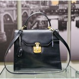 Handbag Gucci Lady Lock Black Leather 121070178