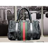 Handbag Gucci Hand Bag Black Canvas 121080004