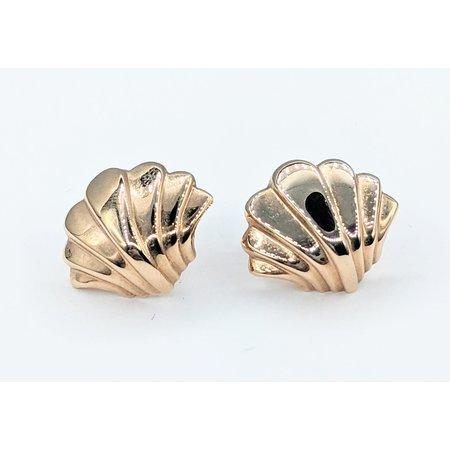 Earrings Scalloped 14ky 121080076