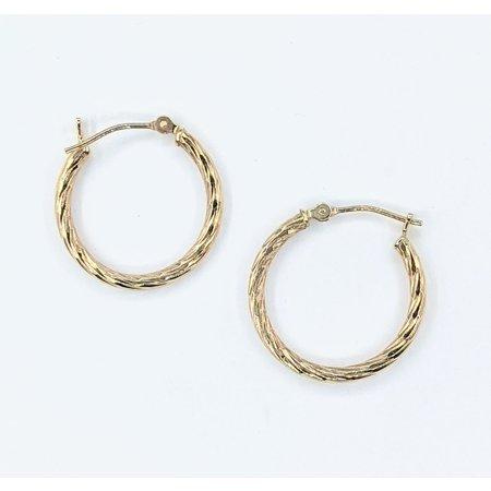 Earrings Hoops 14ky 19mm 121080077