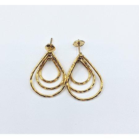Earrings Triple Hoop 18k/14k 121080075