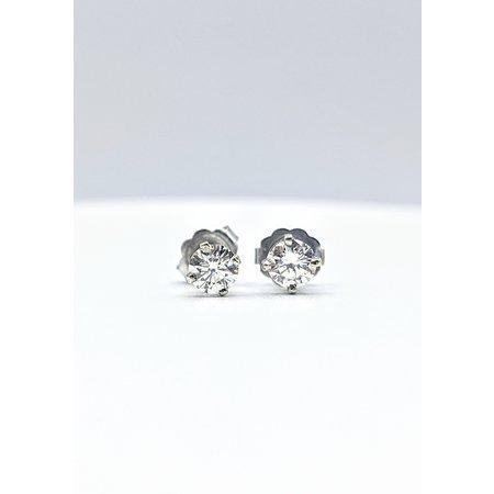 Earrings .50ctw Round Diamonds 14kw 121080078