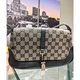 Handbag Gucci GG Dark Brown Canvas 121070177