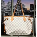 Handbag Louis Vuitton Tote Bag Neverfull PM N51110 White Damier Azur 121080010