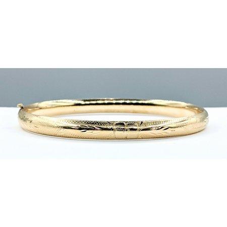 """Bracelet Bangle Engraved 6.5mm 14ky 19cm/7.5"""" 221090025"""