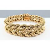 """Bracelet Double Rope 18ky 7.5"""" 221090024"""