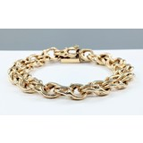 "Bracelet Double Ring Charm 14ky 7.75"" 221090027"