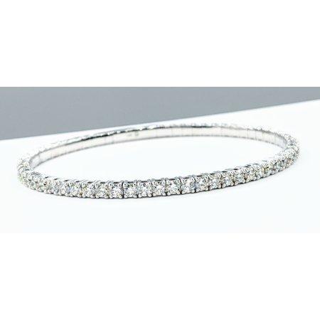 """Bracelet Flex 4.00ctw Diamonds 14kw 7"""" 121090085"""