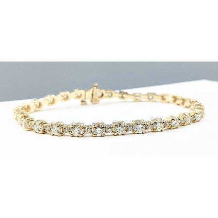"Bracelet 4.94ctw Diamonds 14ky 7"" 121090075"