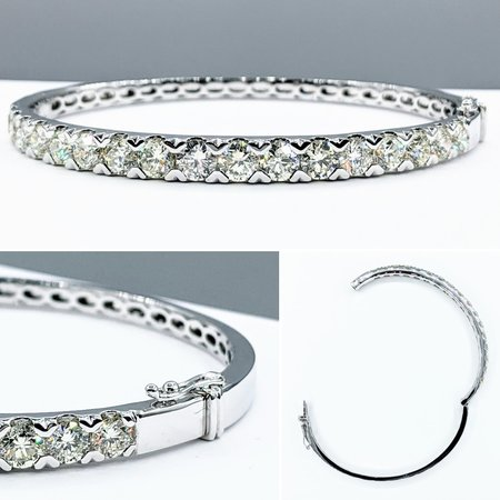 "Bracelet Bangle 5.50ctw Diamonds 14kw 7.5"" 121090081"