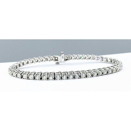 "Bracelet 3.00ctw Diamonds 14kw 7"" 121090076"