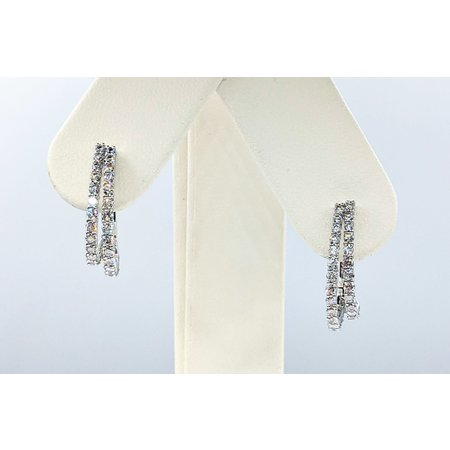 """Earrings Hoop 1.22ctw Diamonds 14kw .75x.5"""" 121090012"""