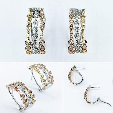 """Earrings Bezel .56ctw Diamonds 14kw .75x.3"""" 121090034"""