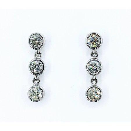 """Earrings Dangle 1.07ctw Diamonds 14kw .7x.1"""" 121090028"""