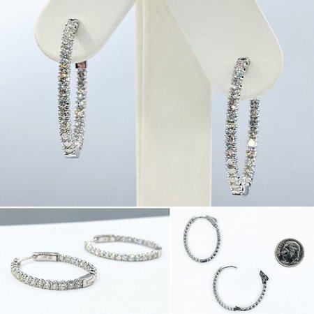 """Earrings Inside/Outside 2.00ctw Diamonds 14kw 1x.9"""" 121090016"""