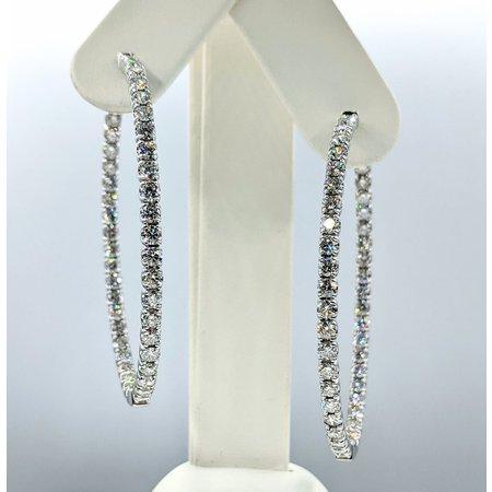 """Earrings Inside/Outside 6.91ctw Diamonds 14kw 2.25x1.75"""" 121090018"""