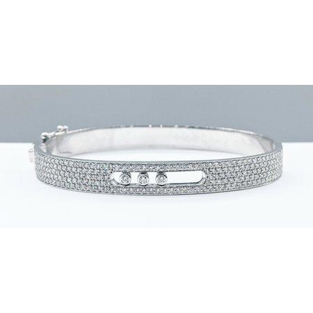 "Bracelet Bangle 2.17ctw Diamonds 14kw 7"" 121090080"