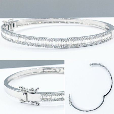 "Bracelet Bangle 1.50ctw Diamonds 14kw 7"" 121090084"