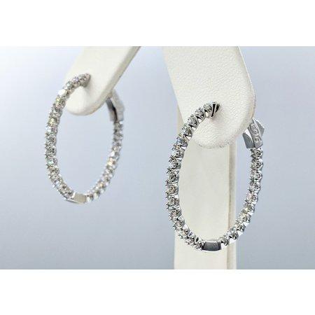 """Earrings Inside/Outside 2.97ctw Diamonds 14kw 1x.9"""" 121090020"""