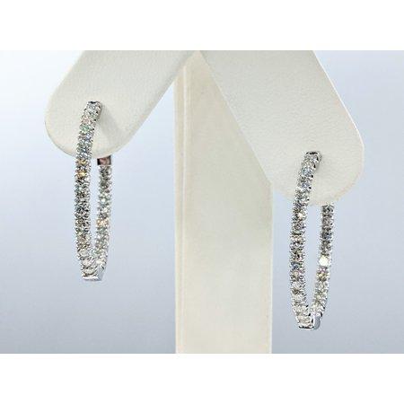 """Earrings Inside/Outside 2.97ctw Diamonds 14kw 1x.9"""" 121090014"""